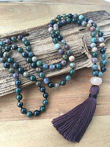 Náhrdelníky - Mala náhrdelník indický achát - 10120879_