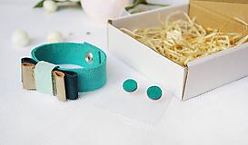 Sady šperkov - Kožený set - 10122909_