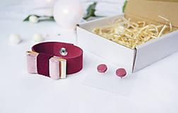 Sady šperkov - Kožený set - 10123008_