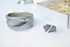 Sady šperkov - Kožený set - 10123453_