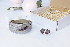 Sady šperkov - Kožený set - 10123467_
