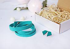 Sady šperkov - Kožený set - 10123497_