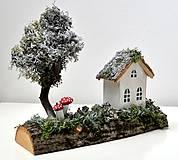 - Vianočná dekorácia-Prvý snehový poprašok - 10120360_