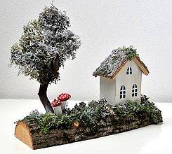 Dekorácie - Vianočná dekorácia-Prvý snehový poprašok - 10120360_