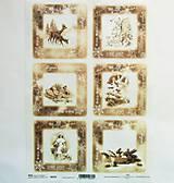 - Ryžový papier na decoupage -A4-R239 - Vianoce, vintage - 10121216_