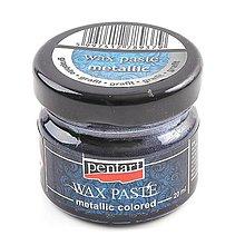 Farby-laky - Metalická vosková pasta, 20 ml (grafit) - 10119784_