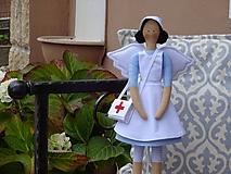 Bábiky - Anjelka - zdravotná sestrička - 10121113_