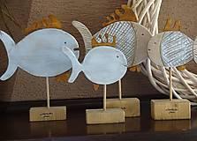 Dekorácie - Modré  rybky so šupinkami - 10122336_