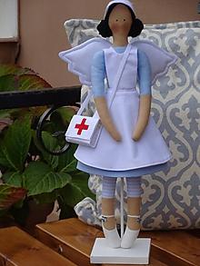 Bábiky - Anjelka - zdravotná sestrička - 10121115_