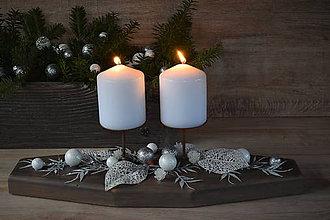 Dekorácie - Vianočný svietnik - 10120747_