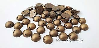 Galantéria - Našívacie kamienky pologuľa 10 mm - bronzové - 10123622_