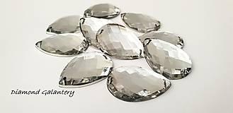 Galantéria - Ozdobné kamienky našívacie 18x25 - Crystal - 10123644_