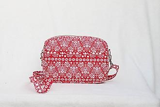 Kabelky - Mini kabelka folk červená - 10121918_
