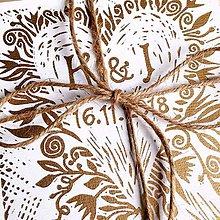 Papiernictvo - Svadobné oznámenie: Linoryt: Srdce - 10120124_