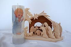 Svietidlá a sviečky - Anjelské Vianoce detskými očami - 10119917_