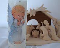 Svietidlá a sviečky - Anjelské Vianoce detskými očami - 10119918_