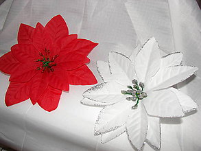 Galantéria - vianočné ruže - 10122607_