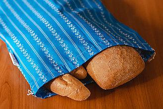 Úžitkový textil - Usmej sa na mňa: Sada bavlnených vrecúšok (Modrotlač) - 10122094_