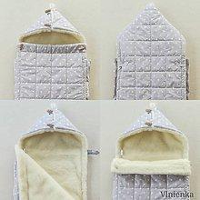 Textil - RUNO SHOP fusak pre deti do kočíka 100% ovčie runo MERINO TOP super wash BODKA SAND piesková - 10123254_