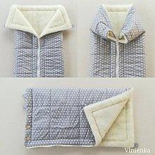 Textil - Deka a fusak DANIEL 2 v 1 100% merino Top Super wash Hviezdička šedá - 10123349_