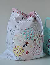 Detské tašky - vrecko s dievčatkom - 10119976_