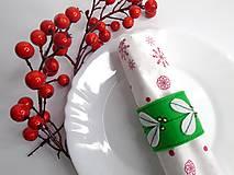 Dekorácie - Vianočný krúžok na servítky (Imelo) - 10120586_
