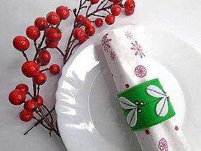 Dekorácie - Vianočný krúžok na servítky - 10120586_