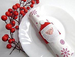 Dekorácie - Vianočný krúžok na servítky - 10120612_