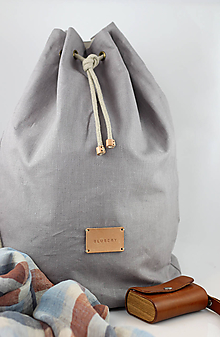 """Tašky - Veľký pánsky štýlový batoh z nepremokavého 100% ľanu """"Casual"""" - 10119948_"""
