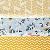 Textil - lesné zvieratká, 100 % bavlna Francúzsko, šírka 150 cm - 10121721_