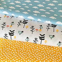 Textil - halúzky, 100 % bavlna Francúzsko, šírka 150 cm - 10121805_