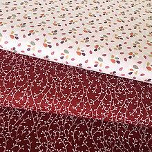 Textil - bordové halúzky, 100 % bavlna, šírka 140 cm - 10121824_