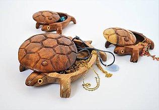 Krabičky - Drevená korytnačka pokladnička - 10121166_