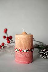 Folk sviečka z palmového vosku Ø50