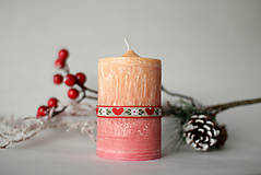 Svietidlá a sviečky - Folk sviečka z palmového vosku Ø50 - 10119845_