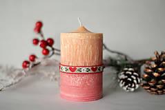 Svietidlá a sviečky - Folk sviečka z palmového vosku Ø50 - 10119846_