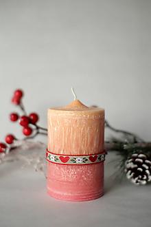 Svietidlá a sviečky - Folk sviečka z palmového vosku Ø50 - 10119841_