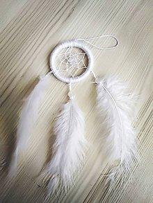 Dekorácie - Malý biely lapac snov - 10120351_