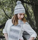 Čiapky - Sivá melírovaná čiapka - zľava z 12,- eur - 10124116_