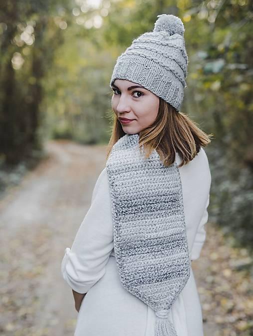 Čiapky - Sivá zimná čiapka - 10124097_