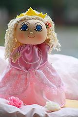 Hračky - Maňuška. Bábika Princezná Blanche - 10120622_