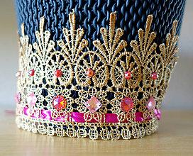 Detské doplnky - Zlatá korunka pre princeznú - 10120971_