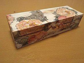 Krabičky - Šperkovnica - biela, patinovaná, dekupáž - 10121552_