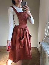 Šaty - Dámska ľanová sukňa na traky - 10123619_