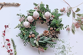 Dekorácie - Veniec_Vianočná príroda - 10122264_