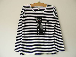 Tričká - Tričko s mačkou dámske - 10122329_