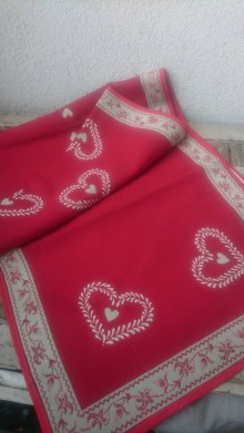 Úžitkový textil - Vianočná stóla obojstranná - 10121522_