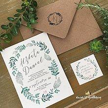 Papiernictvo - Svadobné oznámenie ~Natural Herbal~ - 10120488_