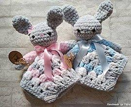 Hračky - Mojkáčik zajačik v ružovom - 10122533_