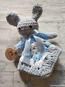 Hračky - Mojkáčik zajačik v modrom - 10122558_